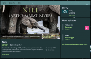 The River Nile on BBC2.