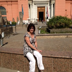 Barbara at the Egyptian Museum