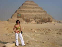 Barbara at the Step Pyramid at Saqqara