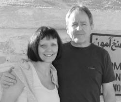 Barbara and Colin at the Tomb of Tutankhamun