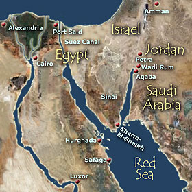 The Red Sea Cruise Includes The Wonders Of Egypt Jordan - Map of egypt before the sands